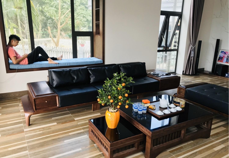 Con trai xây biệt thự vườn bên đồng lúa xanh mát tặng bố mẹ an hưởng tuổi già có chi phí 2 tỷ đồng ở Vĩnh Phúc - Ảnh 16.