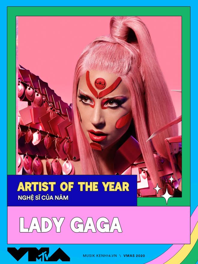 Kết quả MTV VMAs 2020: Lady Gaga và BTS chiếm trọn spotlight, Ariana Grande gom nhanh 4 giải, riêng Billie Eilish trắng tay - Ảnh 2.