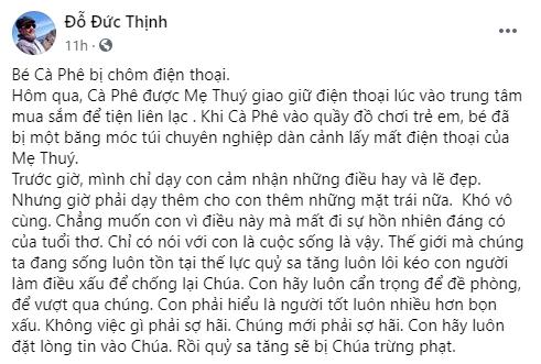 Con trai vợ chồng Thanh Thúy - Đức Thịnh bị nhóm lừa đảo dàn cảnh cướp mất điện thoại ngay giữa chốn đông người - Ảnh 1.