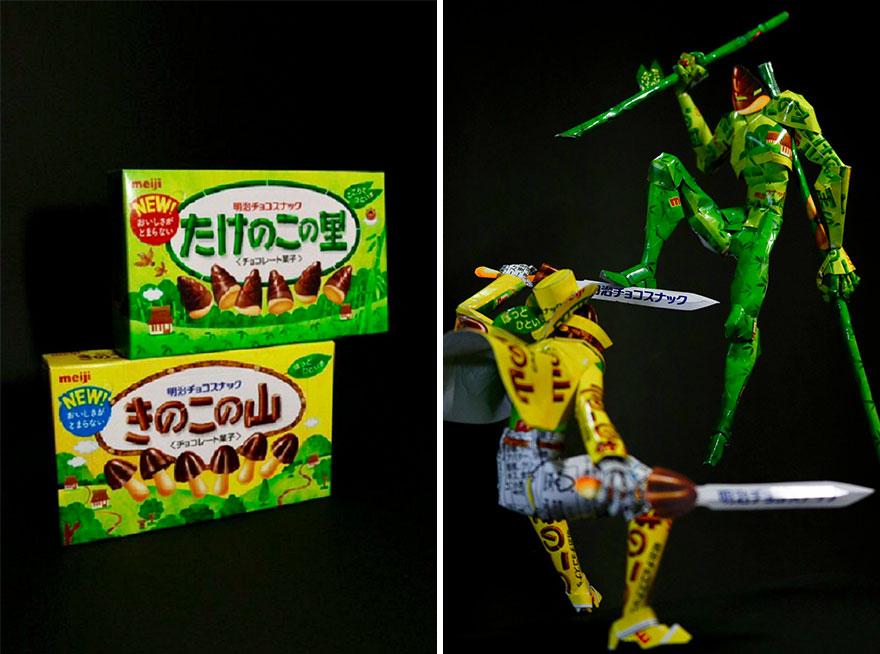 Tưởng chỉ vứt đi, bao bì bánh kẹo bỗng hóa tác phẩm nghệ thuật qua bàn tay của anh chàng Nhật - Ảnh 10.