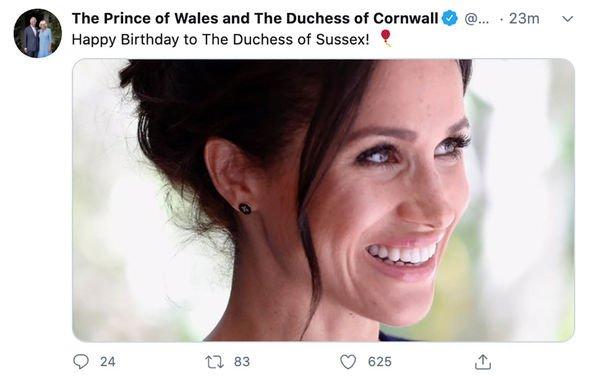 Đúng vào ngày sinh nhật của Meghan Markle, Nữ hoàng Anh cùng gia đình hoàng gia đồng loạt lên tiếng chúc mừng gây ra nhiều tranh luận - Ảnh 3.