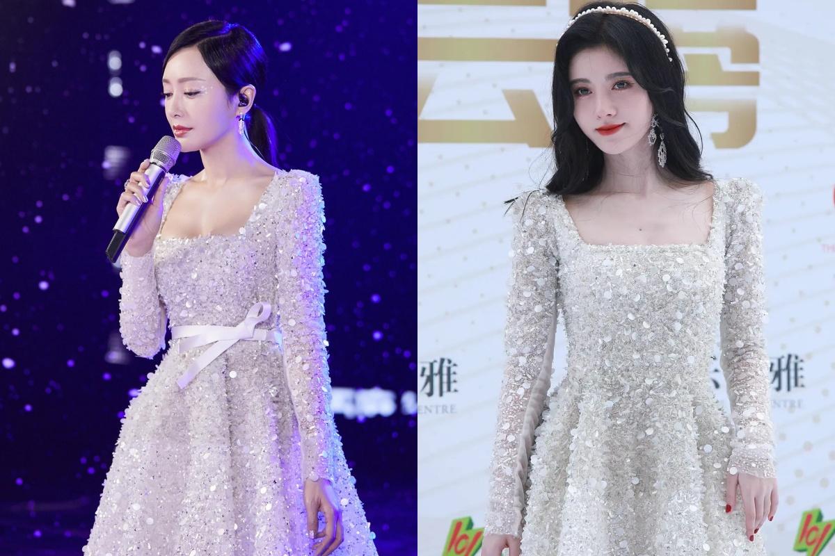 """""""Mỹ nhân 4.000 năm"""" ê chề khi bị netizen bóc mẽ chuyện trang phục """"rởm"""": Hết thua kém Tần Lam lại diện váy chợ mà tự nhận là hàng hiệu - Ảnh 9."""