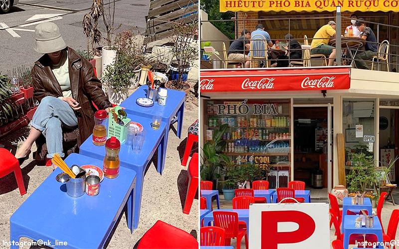 Dân mạng Hàn và quốc tế chia sẻ rầm rộ hình ảnh quán bình dân của Việt Nam nằm giữa Seoul với bộ bàn ghế nhựa đặc trưng, nhìn không khéo cứ ngỡ đâu Tạ Hiện!