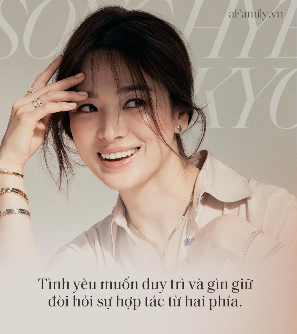 """Song Hye Kyo đá xoáy chồng cũ Song Joong Ki trong bài phỏng vấn mới: Nhấn mạnh sự """"phức tạp"""" tới 3 lần, khẳng định tình yêu phải được giữ gìn từ hai phía? - Ảnh 3."""