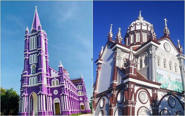 Ngỡ ngàng với 2 nhà thờ màu tím và màu nâu đẹp như thánh đường châu Âu cổ tại Nghệ An, dân tình lại đứng ngồi không yên