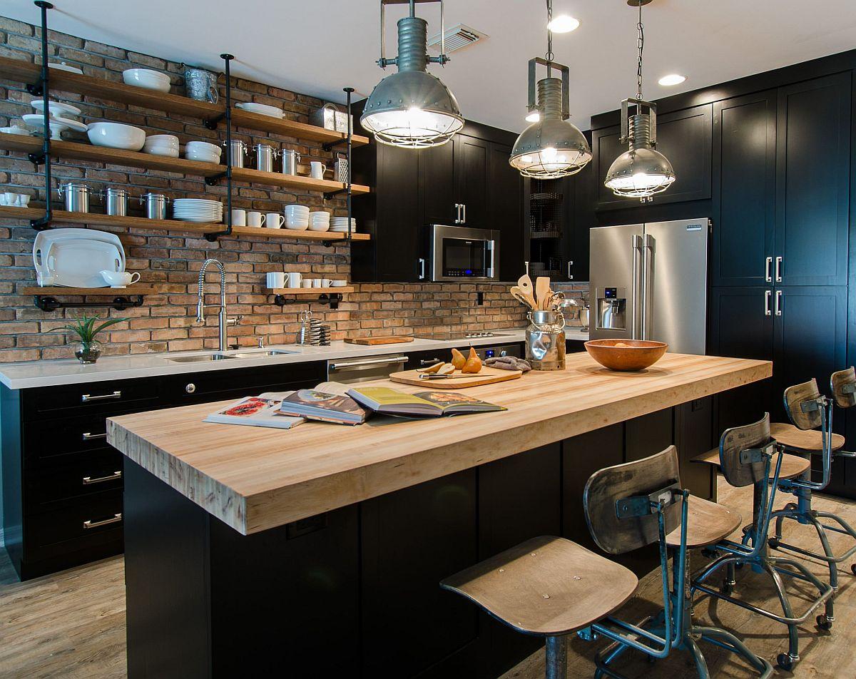 Gợi ý thiết kế căn bếp nhỏ xịn sò với những bức tường gạch trần duyên dáng - Ảnh 9.