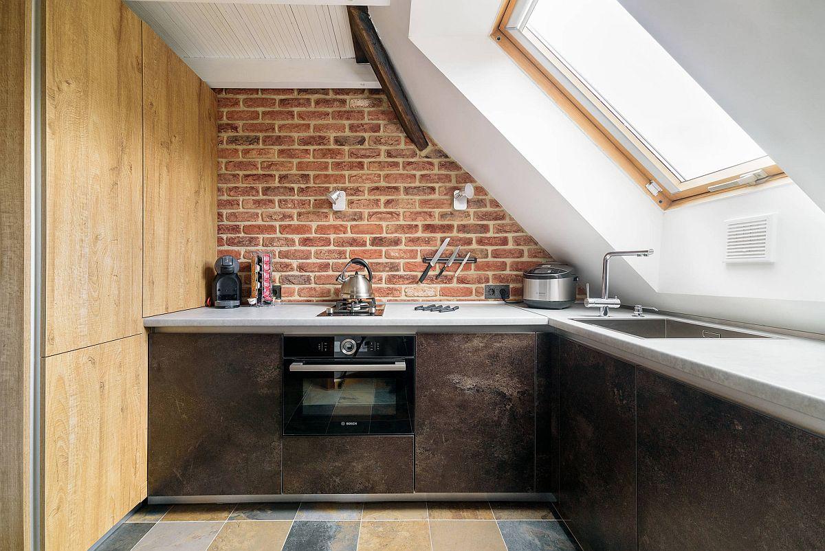 Gợi ý thiết kế căn bếp nhỏ xịn sò với những bức tường gạch trần duyên dáng - Ảnh 10.
