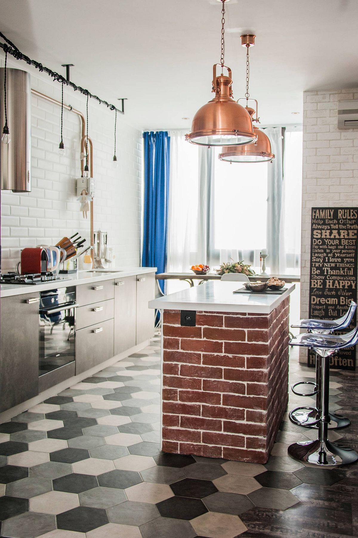 Gợi ý thiết kế căn bếp nhỏ xịn sò với những bức tường gạch trần duyên dáng - Ảnh 5.