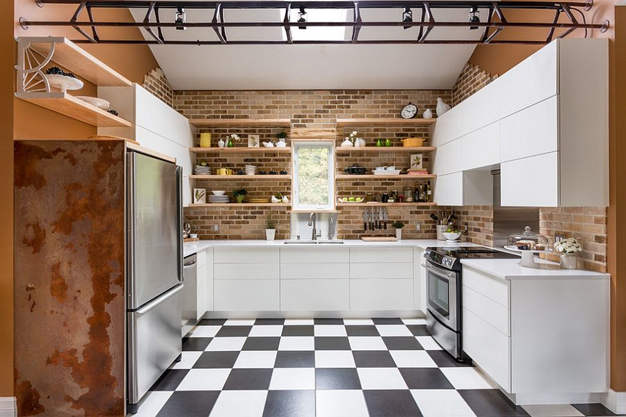 Gợi ý thiết kế căn bếp nhỏ xịn sò với những bức tường gạch trần duyên dáng - Ảnh 6.