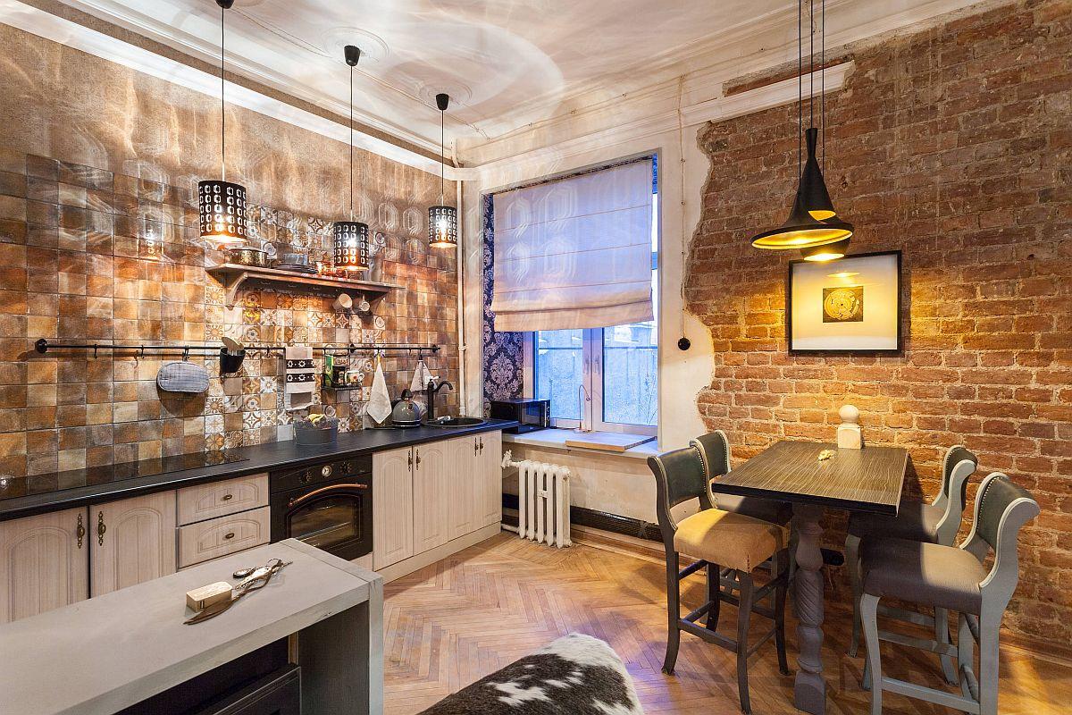 Gợi ý thiết kế căn bếp nhỏ xịn sò với những bức tường gạch trần duyên dáng - Ảnh 7.