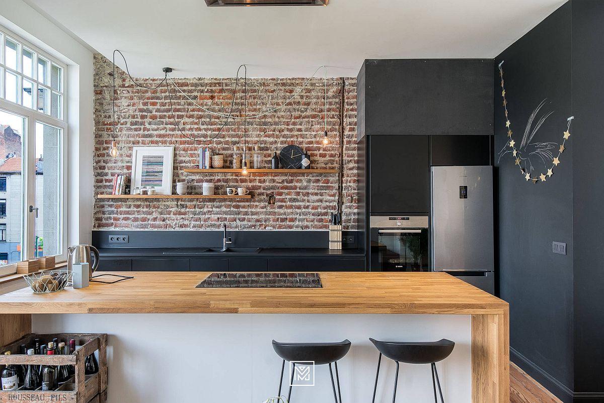 Gợi ý thiết kế căn bếp nhỏ xịn sò với những bức tường gạch trần duyên dáng - Ảnh 8.