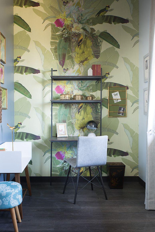 Phòng làm việc nhỏ tại nhà với phong cách chiết trung đầy màu sắc - Ảnh 10.