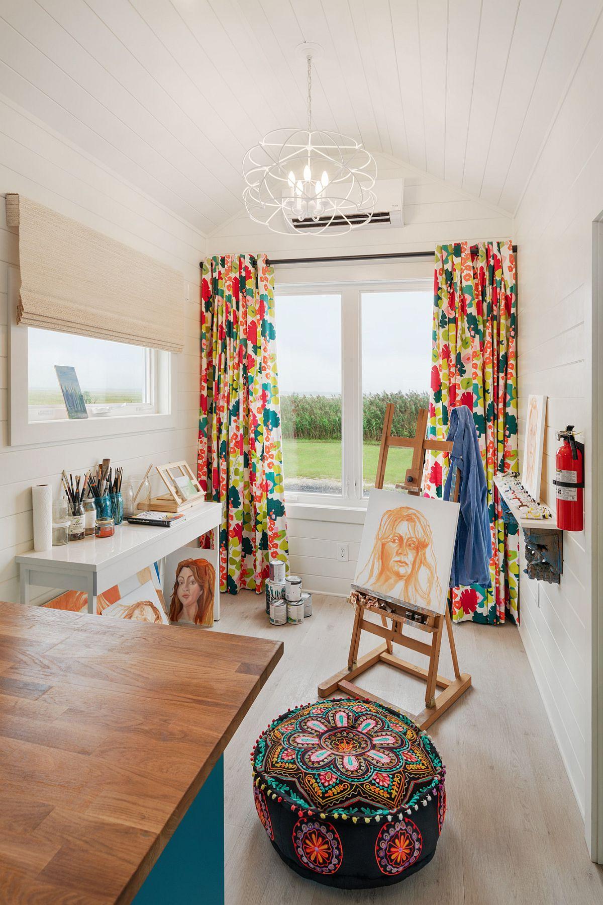 Phòng làm việc nhỏ tại nhà với phong cách chiết trung đầy màu sắc - Ảnh 12.