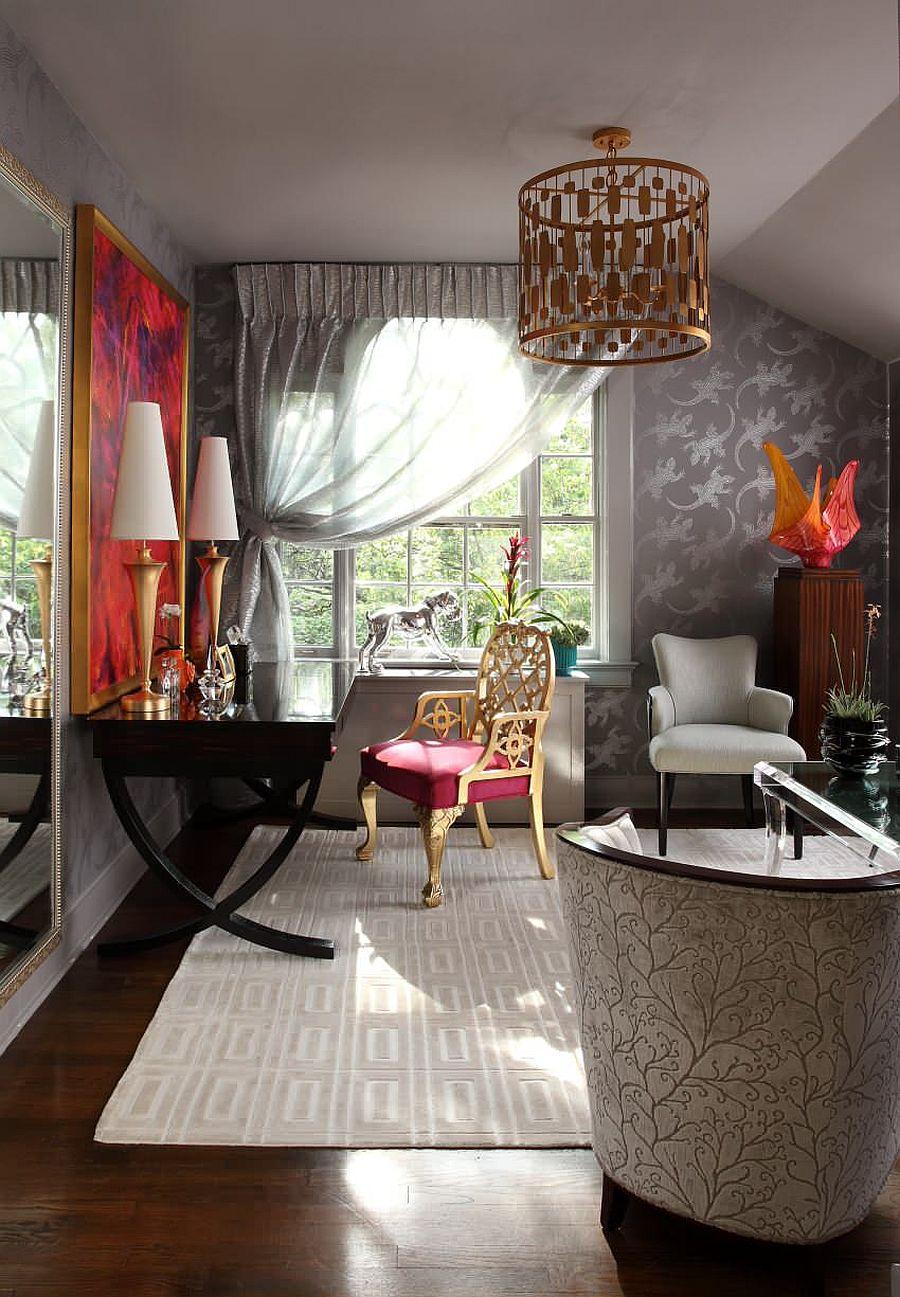 Phòng làm việc nhỏ tại nhà với phong cách chiết trung đầy màu sắc - Ảnh 13.