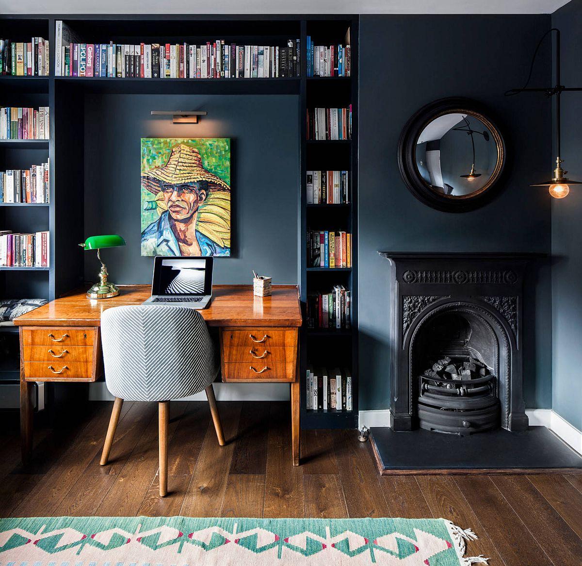 Phòng làm việc nhỏ tại nhà với phong cách chiết trung đầy màu sắc - Ảnh 6.