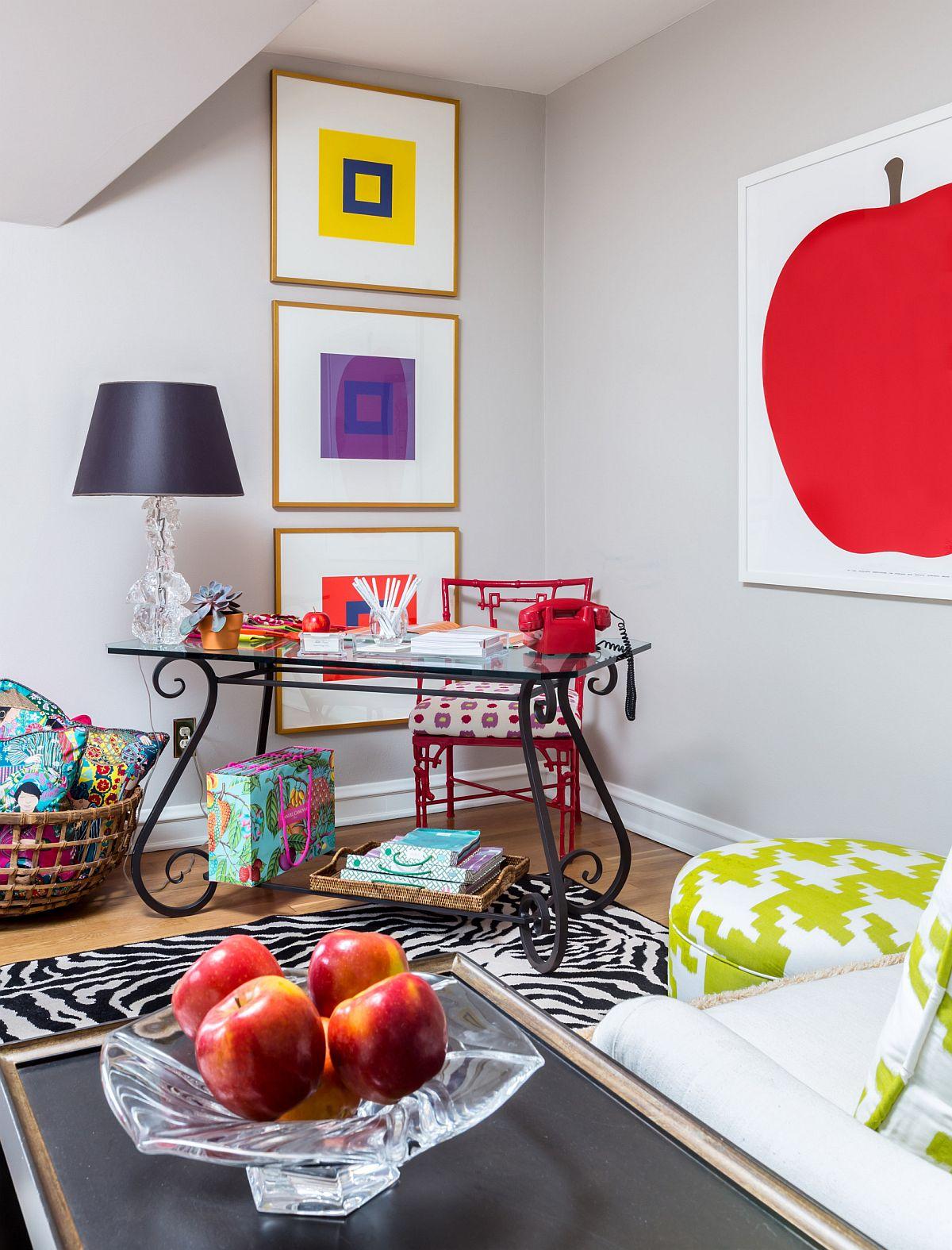 Phòng làm việc nhỏ tại nhà với phong cách chiết trung đầy màu sắc - Ảnh 7.
