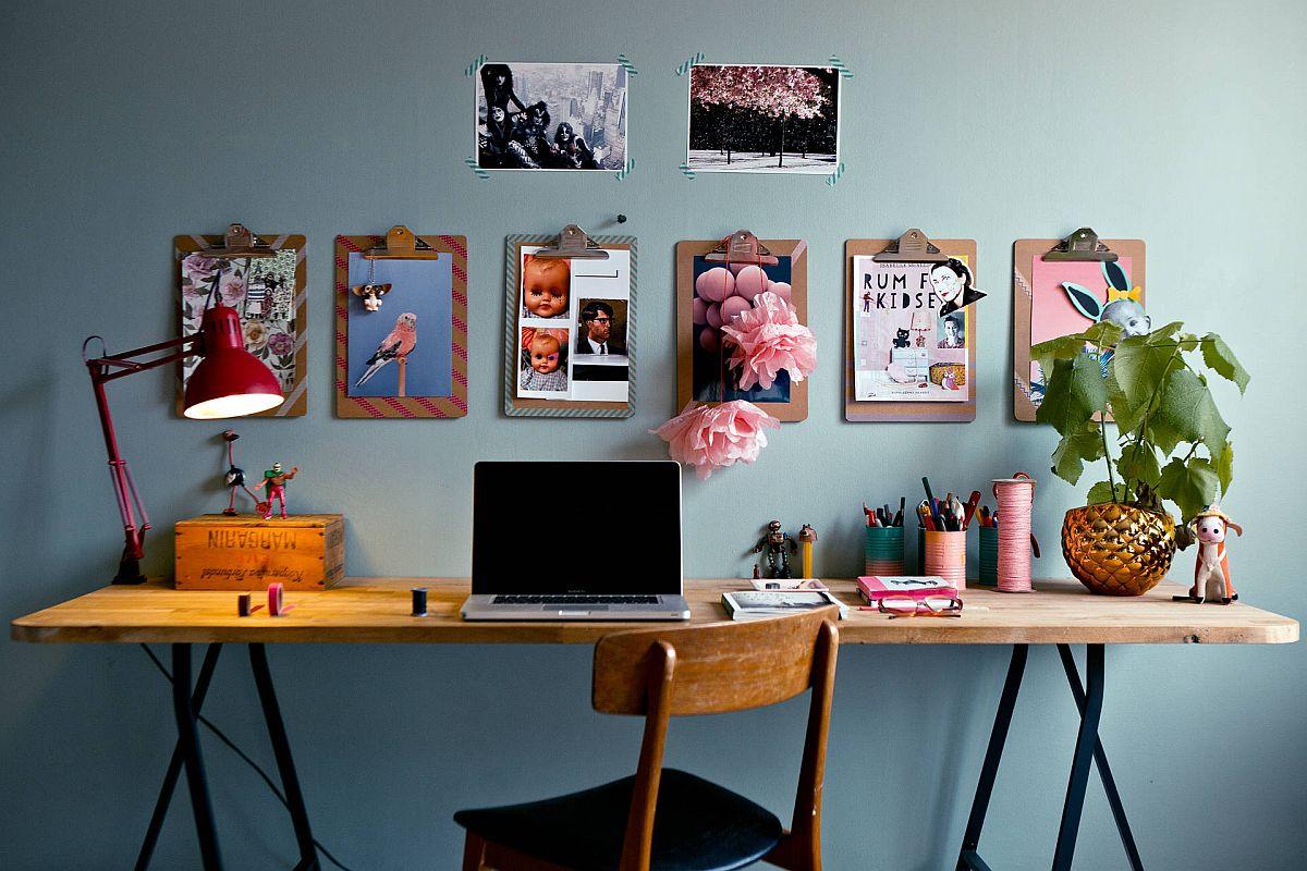 Phòng làm việc nhỏ tại nhà với phong cách chiết trung đầy màu sắc - Ảnh 9.