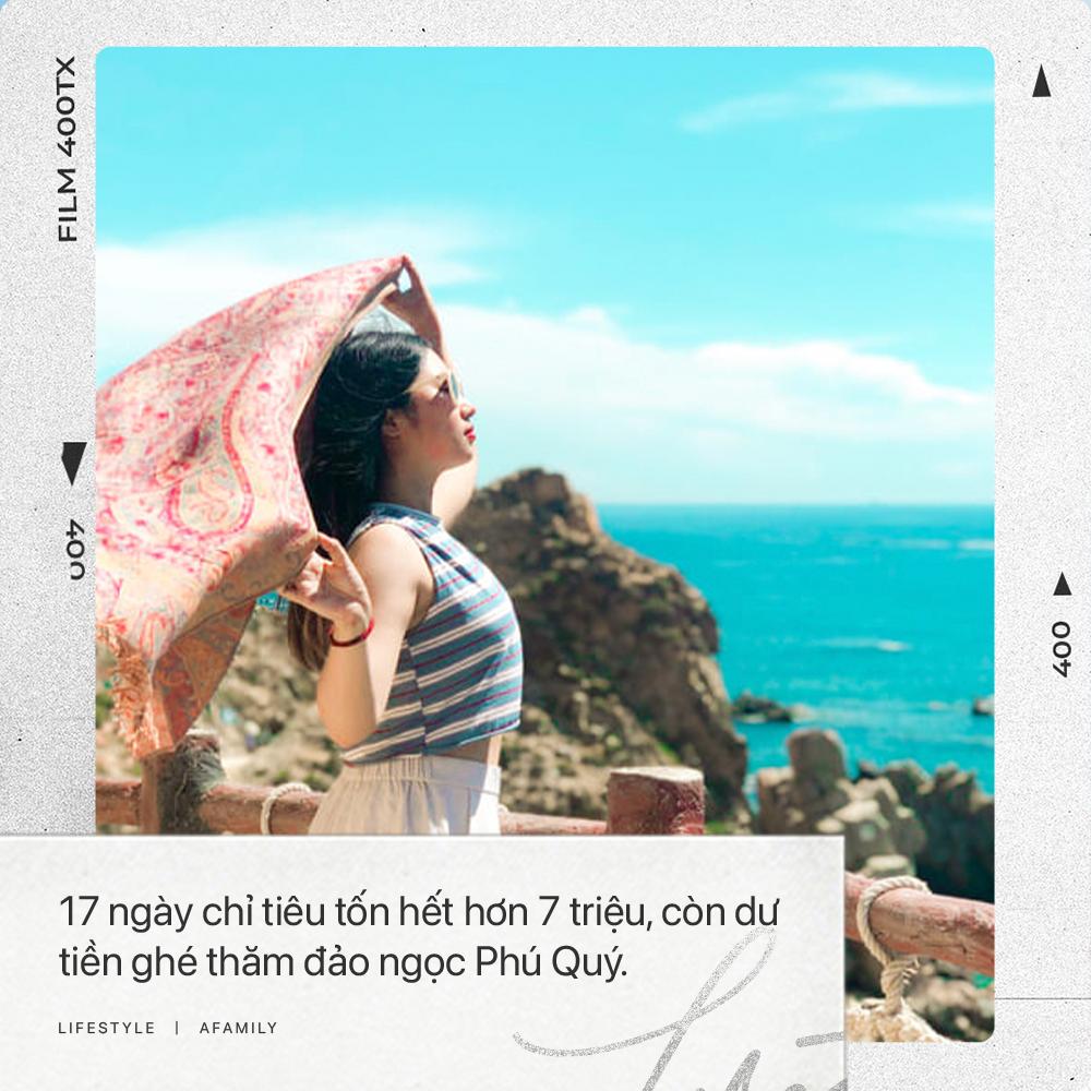 """Cô nàng độc thân 26 tuổi lần đầu đi xuyên Việt bằng xe máy với 7 triệu và 17 ngày: Cả tuổi trẻ dành để """"đi bụi"""", sống không dũng cảm uổng phí thanh xuân! - Ảnh 3."""