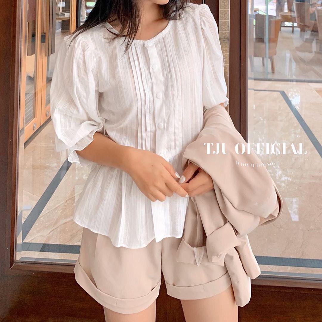 Áo blouse nhấn eo đã hack dáng còn mix được 5 kiểu khác nhau, bảo sao nàng nào cũng muốn sắm vài ba chiếc - Ảnh 9.