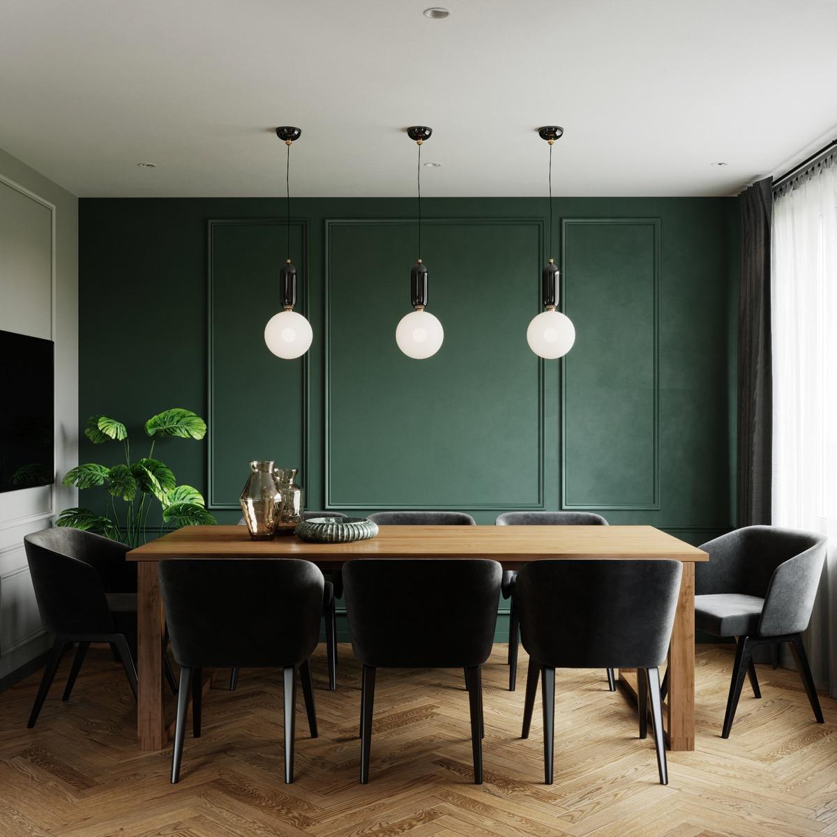 Xanh lá - tone màu không thể thiếu trong phòng ăn nhà bạn - Ảnh 4.