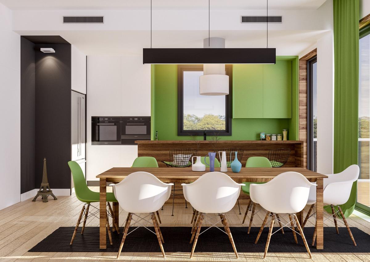 Xanh lá - tone màu không thể thiếu trong phòng ăn nhà bạn - Ảnh 17.