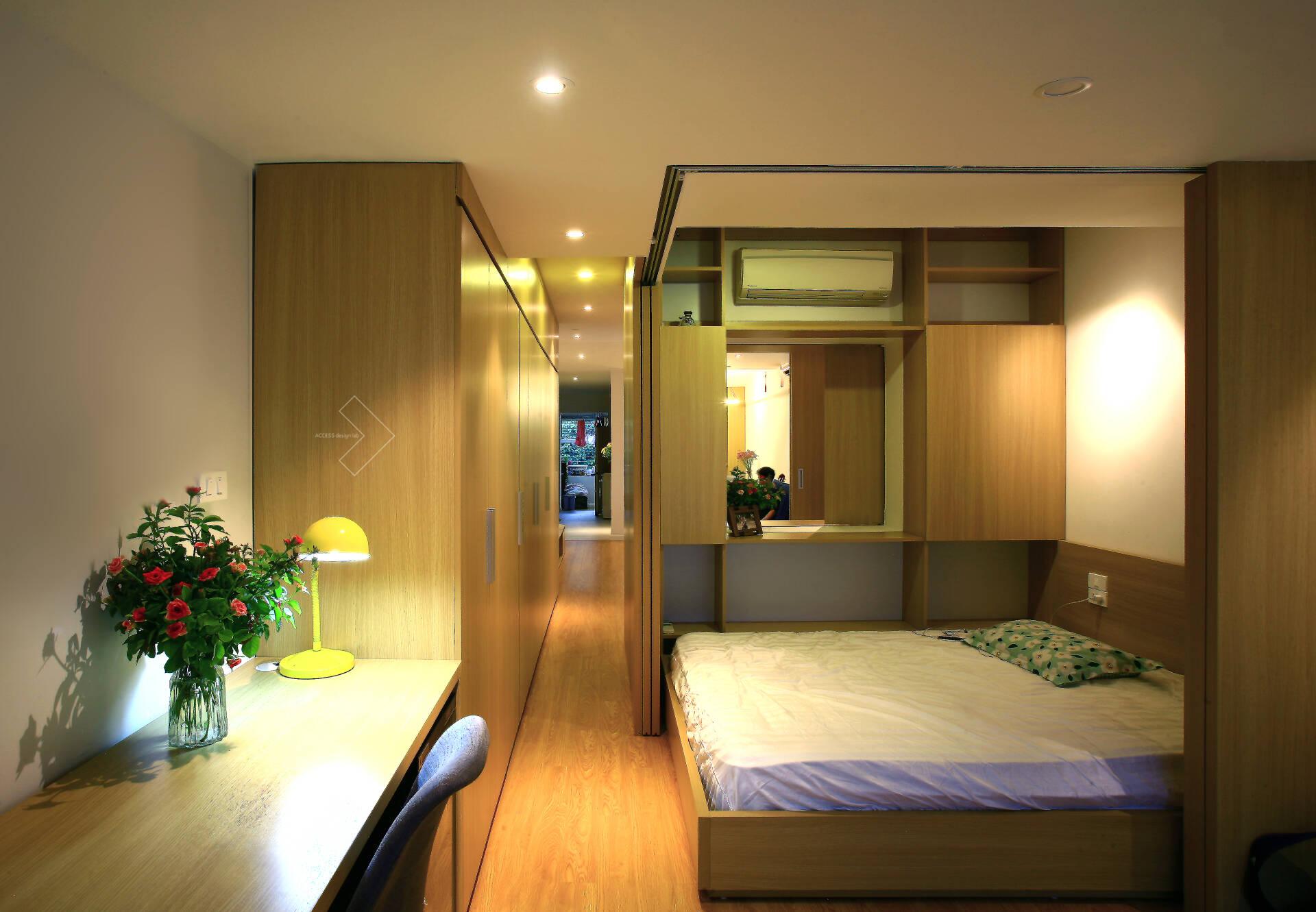 """""""Chuồng cọp"""" chật hẹp của nhà tập thể cũ 70m² biến thành không gian ấm cúng, rộng rãi với chi phí 320 triệu đồng ở Hà Nội  - Ảnh 7."""