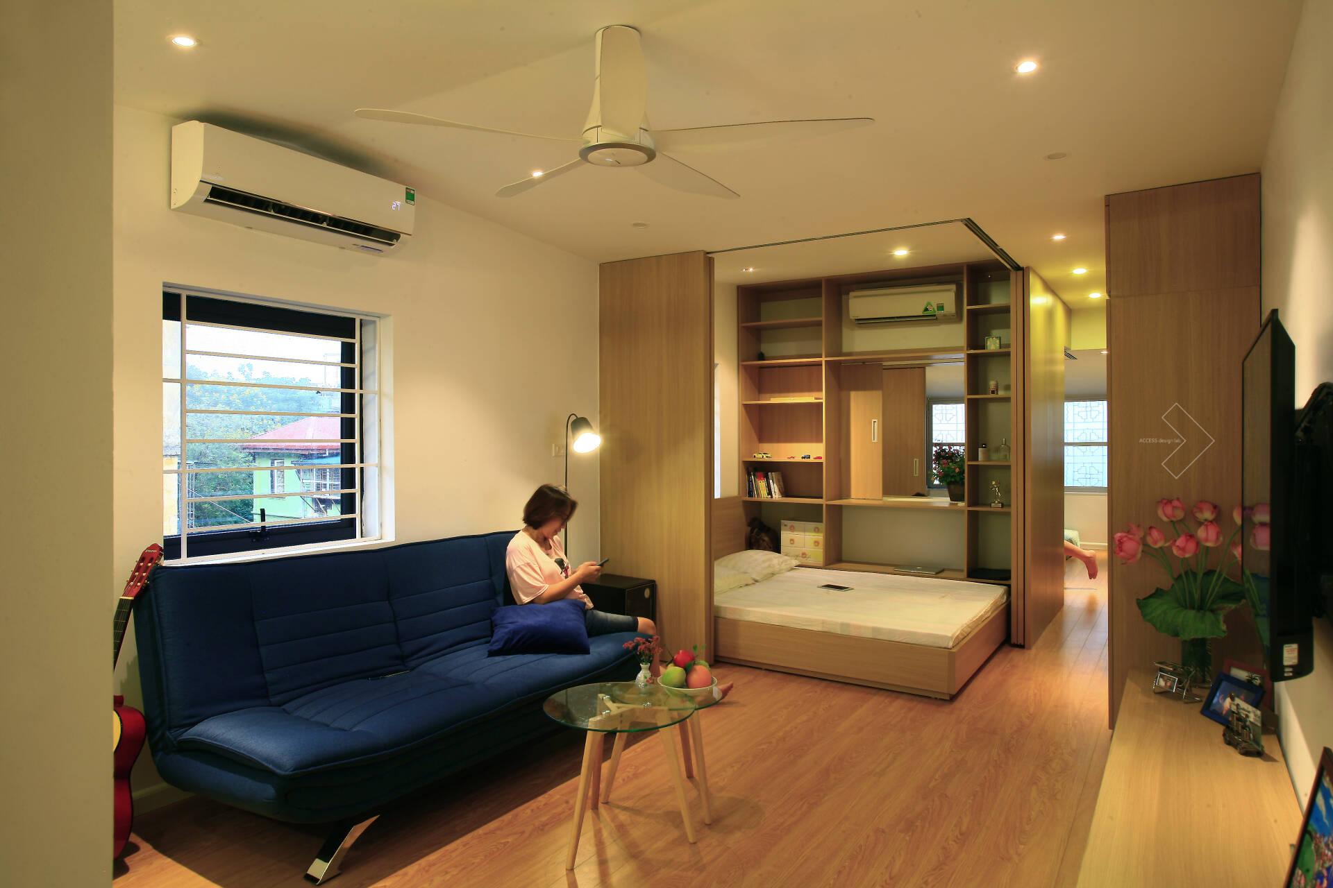 """""""Chuồng cọp"""" chật hẹp của nhà tập thể cũ 70m² biến thành không gian ấm cúng, rộng rãi với chi phí 320 triệu đồng ở Hà Nội  - Ảnh 6."""
