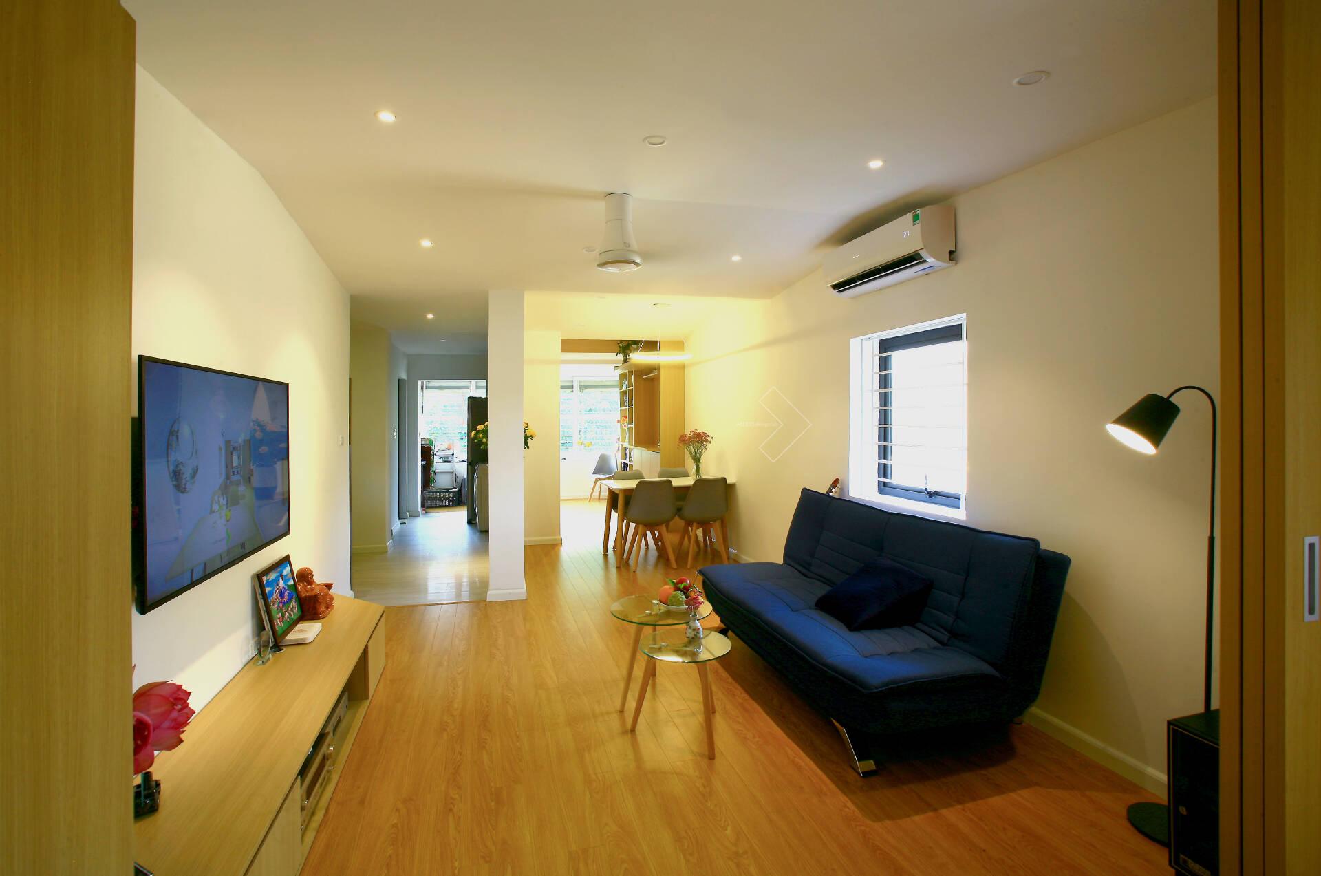 """""""Chuồng cọp"""" chật hẹp của nhà tập thể cũ 70m² biến thành không gian ấm cúng, rộng rãi với chi phí 320 triệu đồng ở Hà Nội  - Ảnh 5."""