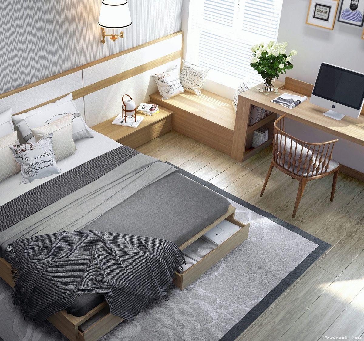 Mách bạn 10 mẹo khuếch đại không gian phòng ngủ nhỏ - Ảnh 2.
