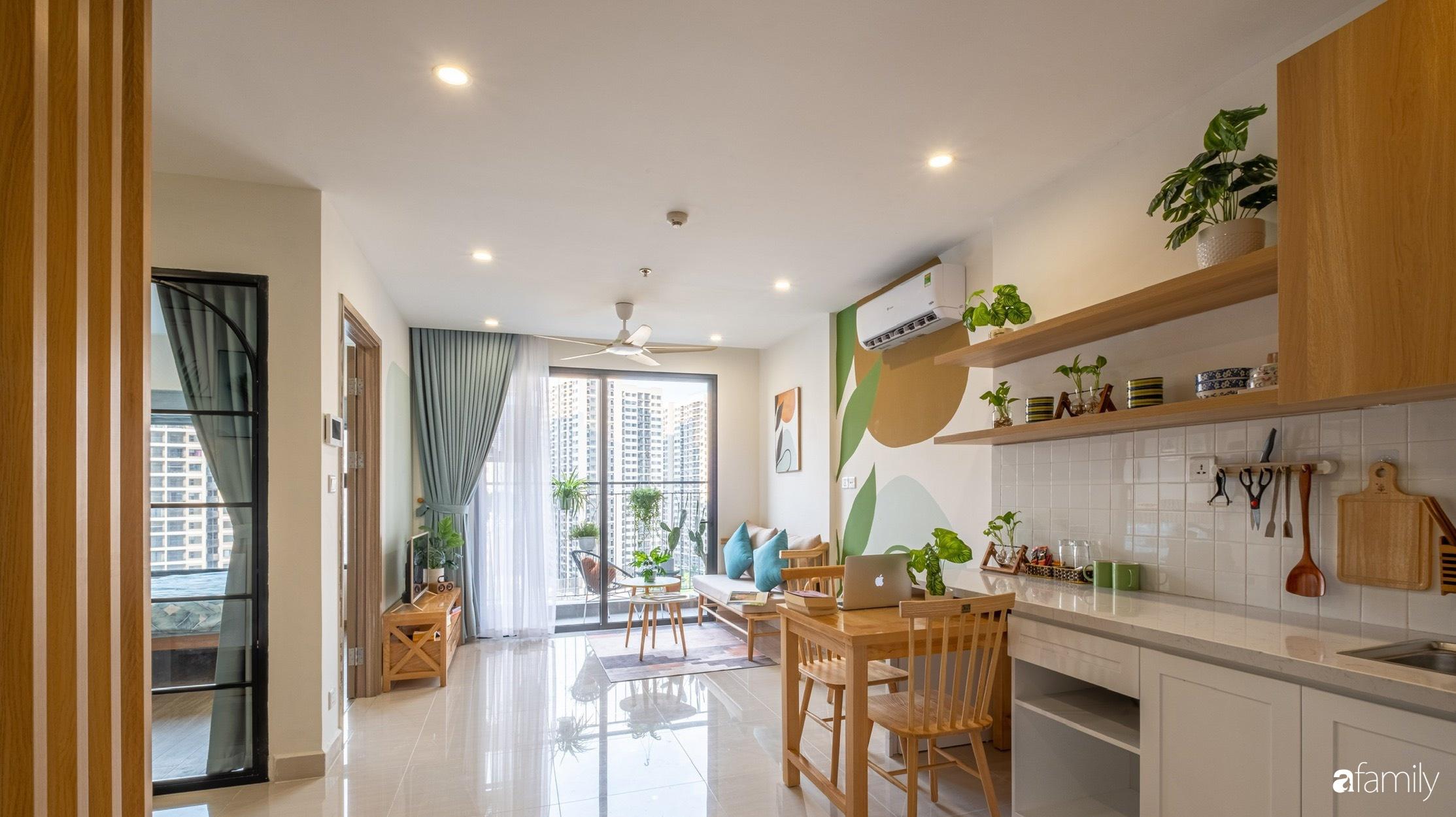 Căn hộ 40m² ở ngoại thành Hà Nội khiến ai ngắm nhìn cũng xuýt xoa vì đẹp có chi phí hoàn thiện 70 triệu đồng - Ảnh 2.