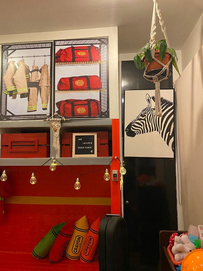 Người mẹ thông minh chọn giấy dán tường trang trí phòng bé giúp việc học tại nhà vô cùng hiệu quả - Ảnh 7.