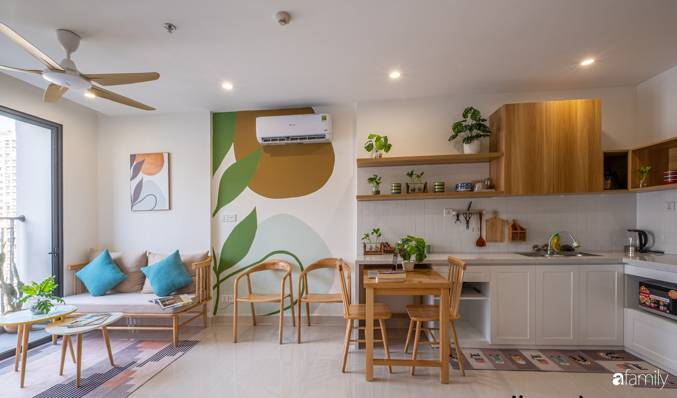 Căn hộ 40m² ở ngoại thành Hà Nội khiến ai ngắm nhìn cũng xuýt xoa vì đẹp có chi phí hoàn thiện 70 triệu đồng - Ảnh 1.