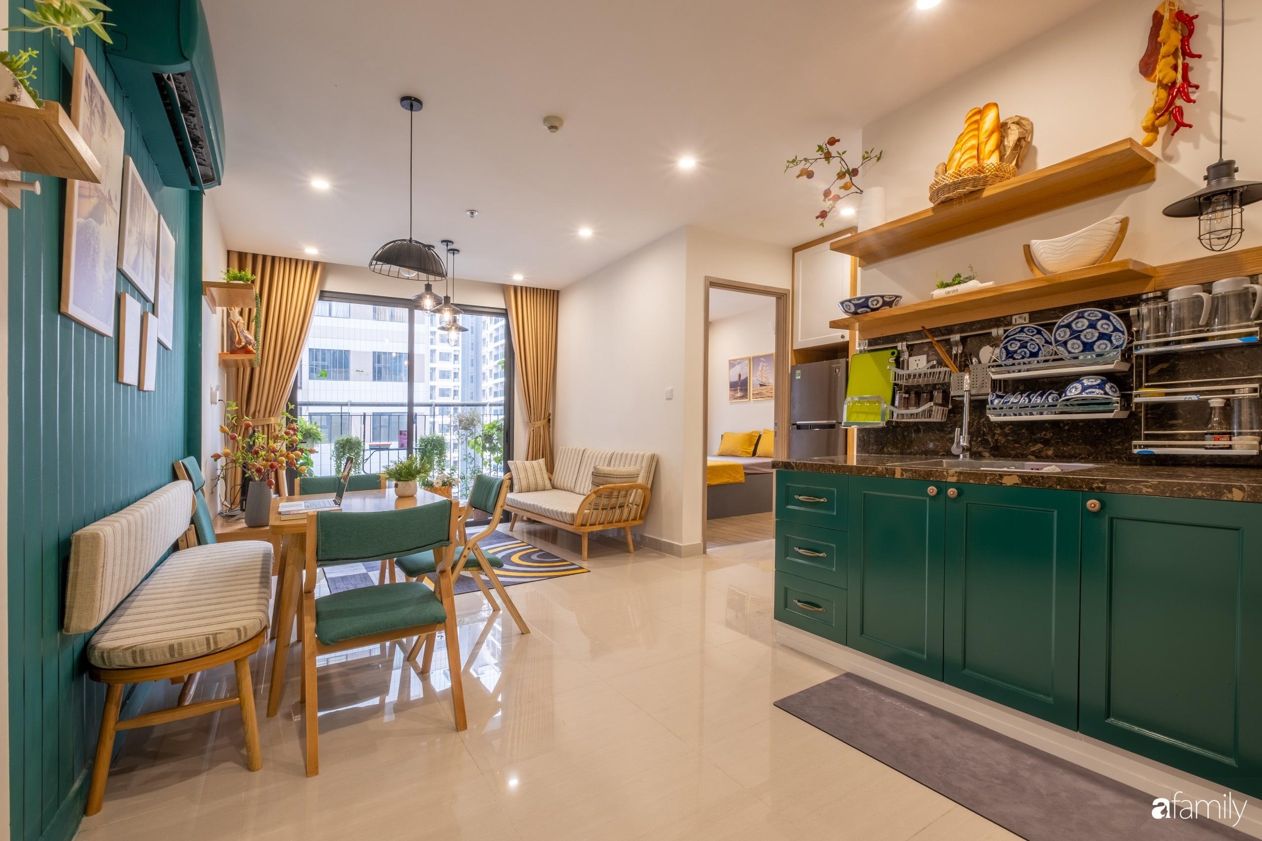 Căn hộ 54m² đẹp cuốn hút với tông màu xanh gần gũi với thiên nhiên có chi phí hoàn thiện nội thất 150 triệu đồng ở Hà Nội - Ảnh 3.