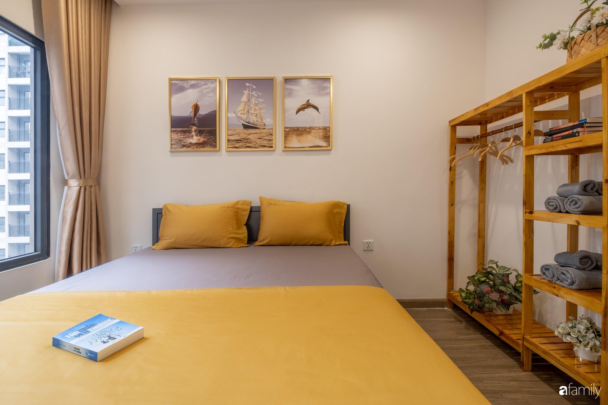 Căn hộ 54m² đẹp cuốn hút với tông màu xanh gần gũi với thiên nhiên có chi phí hoàn thiện nội thất 150 triệu đồng ở Hà Nội - Ảnh 12.