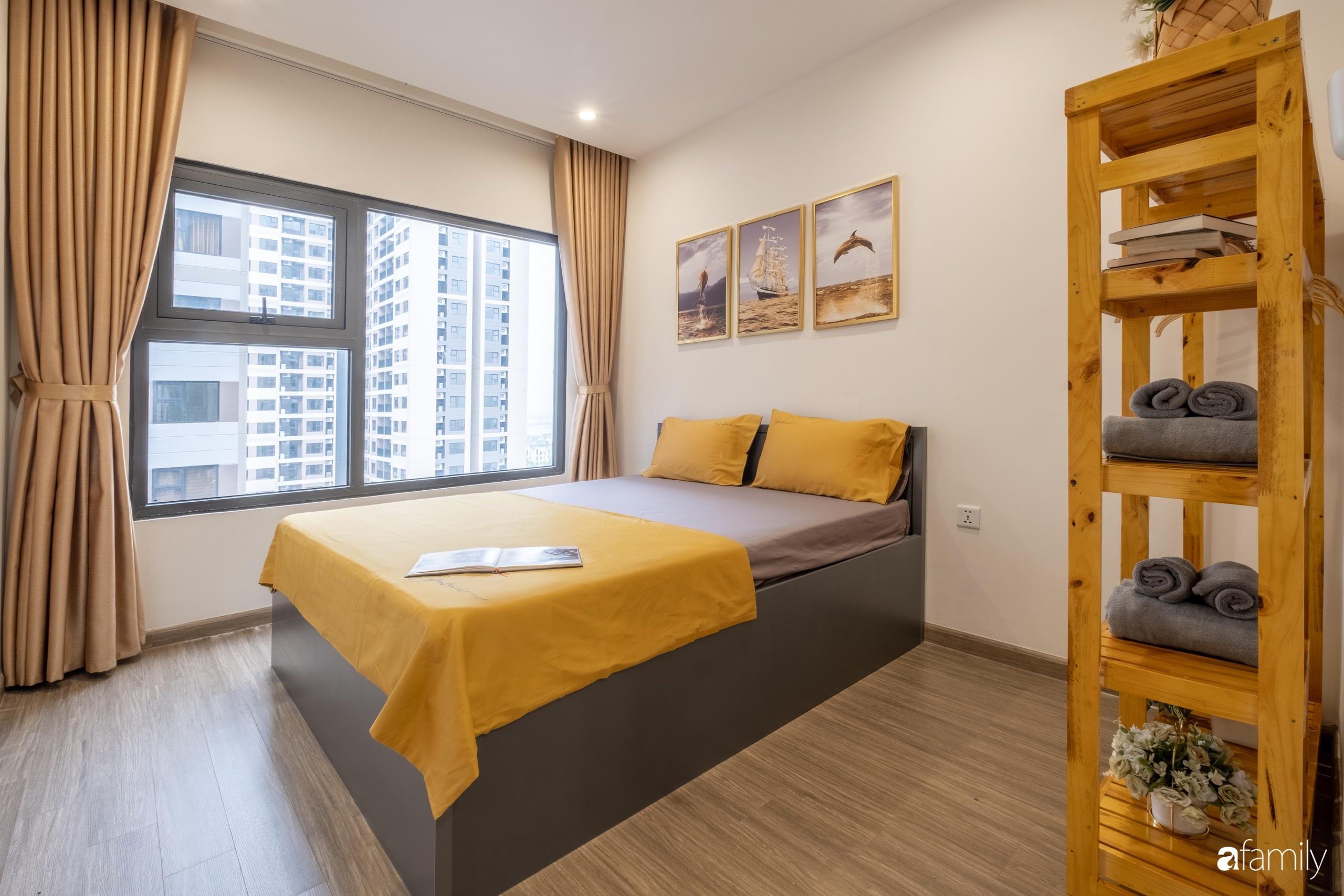 Căn hộ 54m² đẹp cuốn hút với tông màu xanh gần gũi với thiên nhiên có chi phí hoàn thiện nội thất 150 triệu đồng ở Hà Nội - Ảnh 11.
