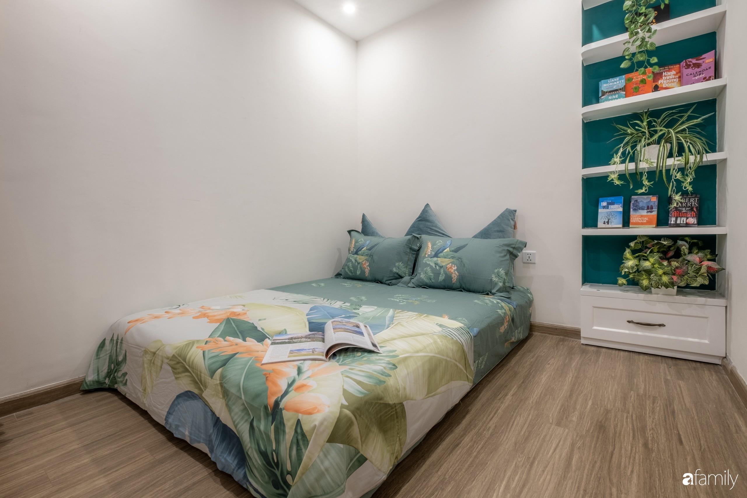 Căn hộ 54m² đẹp cuốn hút với tông màu xanh gần gũi với thiên nhiên có chi phí hoàn thiện nội thất 150 triệu đồng ở Hà Nội - Ảnh 14.