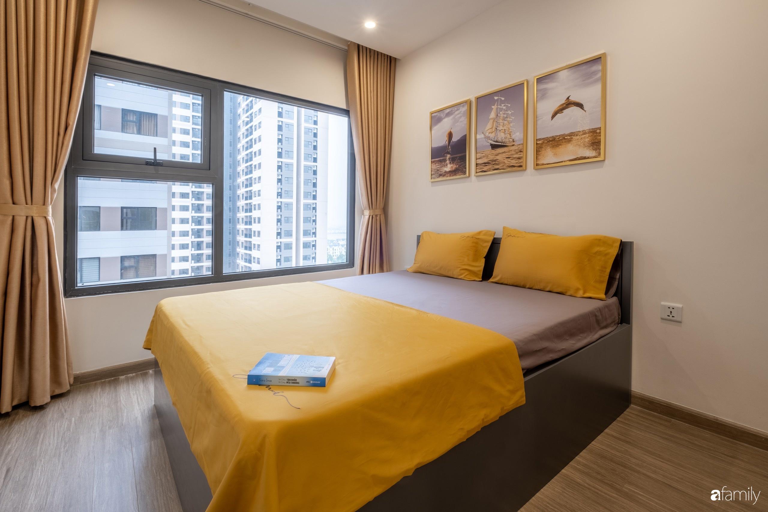 Căn hộ 54m² đẹp cuốn hút với tông màu xanh gần gũi với thiên nhiên có chi phí hoàn thiện nội thất 150 triệu đồng ở Hà Nội - Ảnh 13.