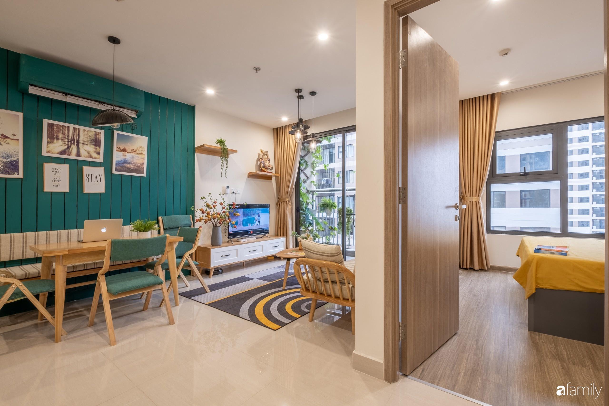 Căn hộ 54m² đẹp cuốn hút với tông màu xanh gần gũi với thiên nhiên có chi phí hoàn thiện nội thất 150 triệu đồng ở Hà Nội - Ảnh 7.