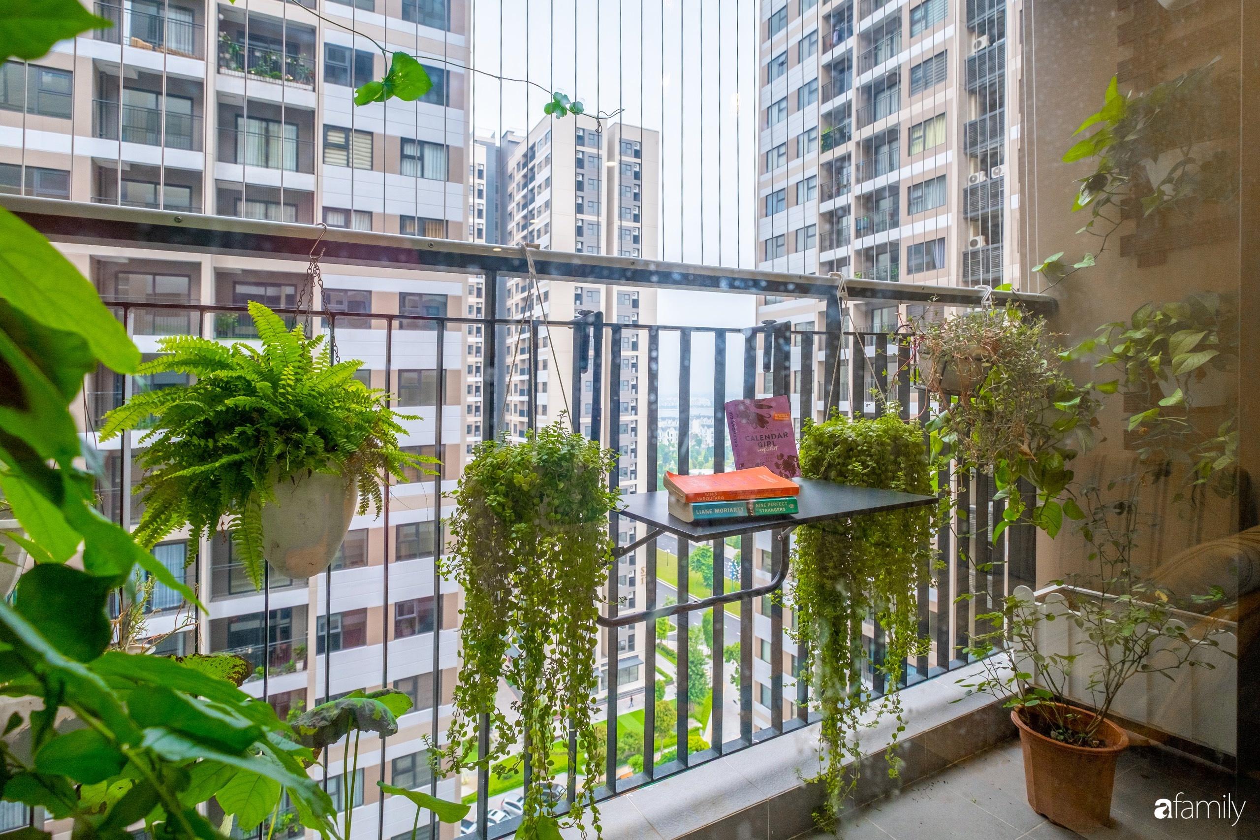 Căn hộ 54m² đẹp cuốn hút với tông màu xanh gần gũi với thiên nhiên có chi phí hoàn thiện nội thất 150 triệu đồng ở Hà Nội - Ảnh 10.