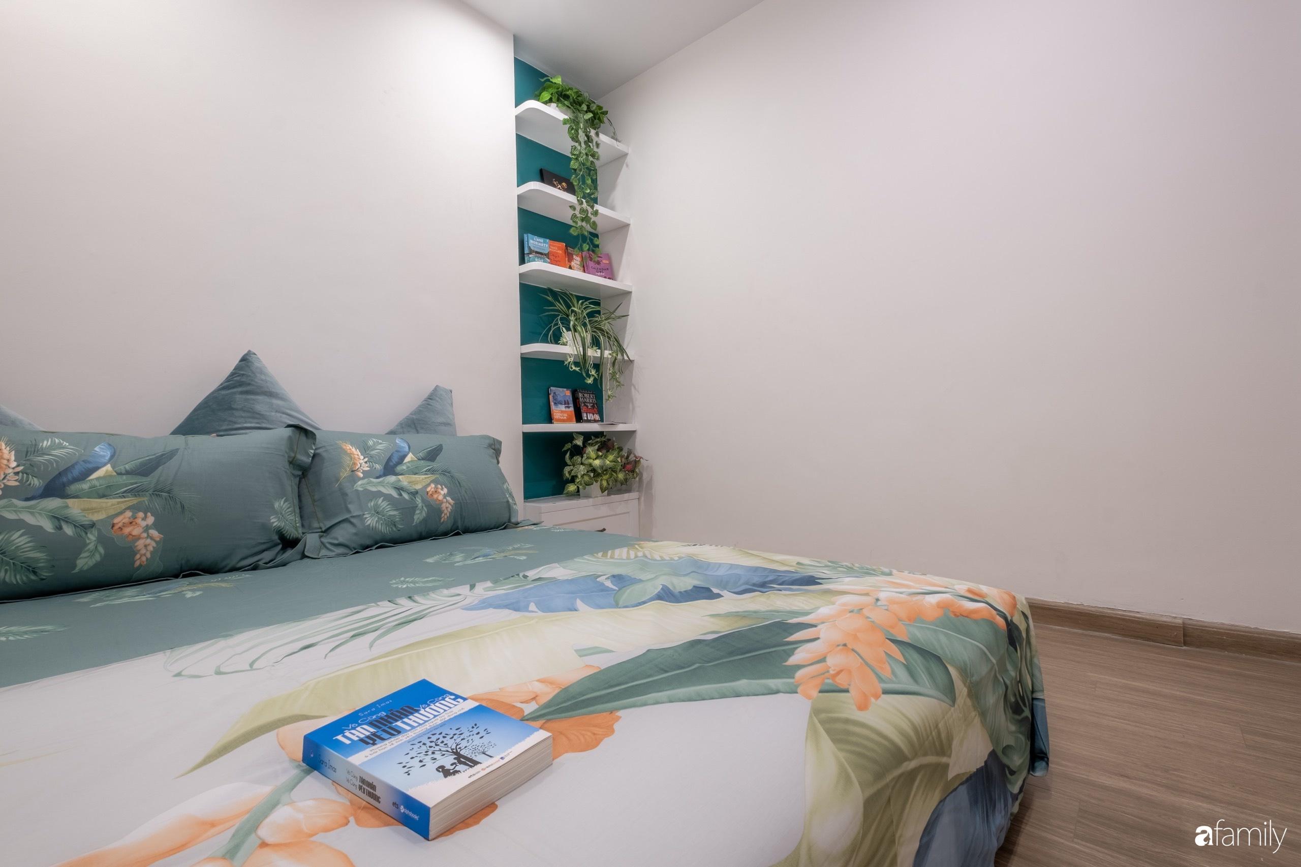 Căn hộ 54m² đẹp cuốn hút với tông màu xanh gần gũi với thiên nhiên có chi phí hoàn thiện nội thất 150 triệu đồng ở Hà Nội - Ảnh 15.