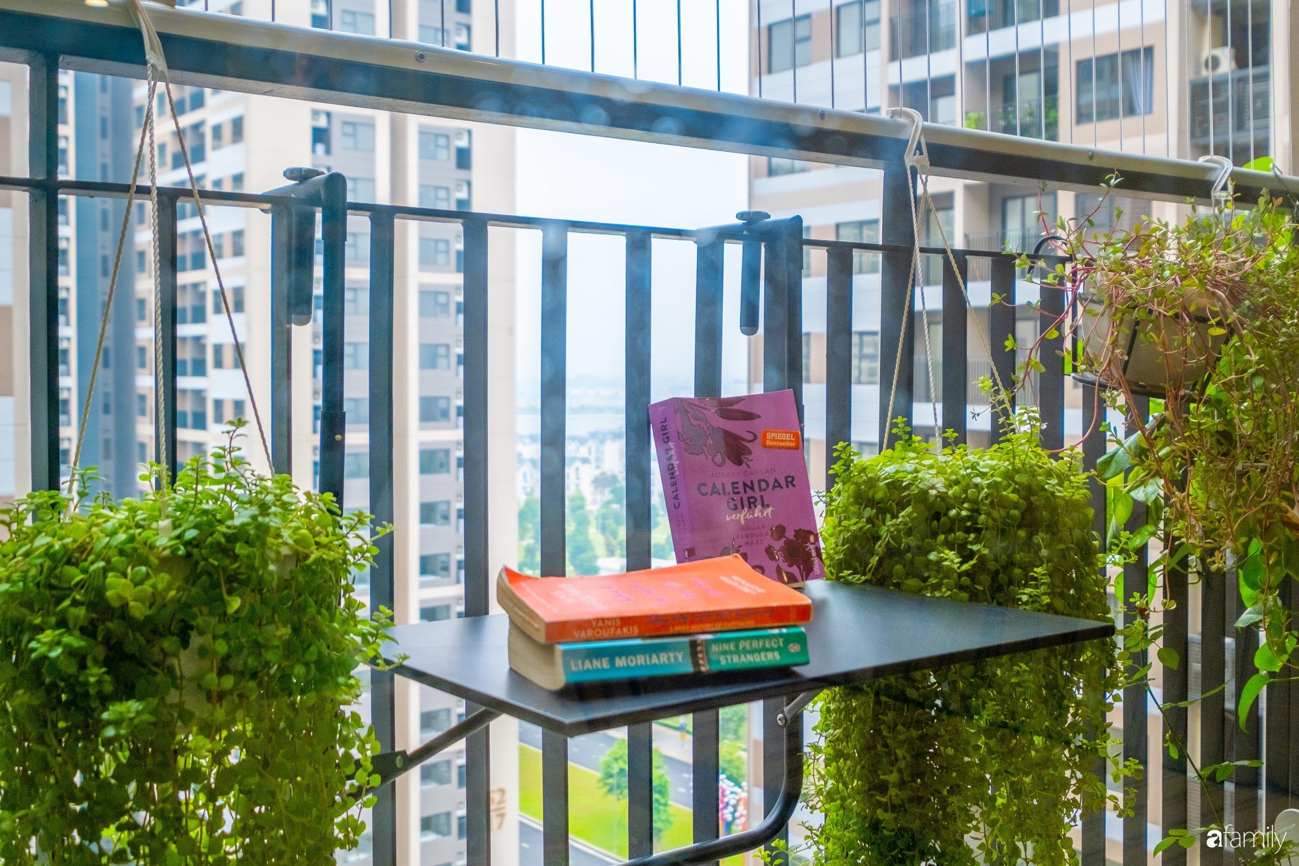 Căn hộ 54m² đẹp cuốn hút với tông màu xanh gần gũi với thiên nhiên có chi phí hoàn thiện nội thất 150 triệu đồng ở Hà Nội - Ảnh 9.