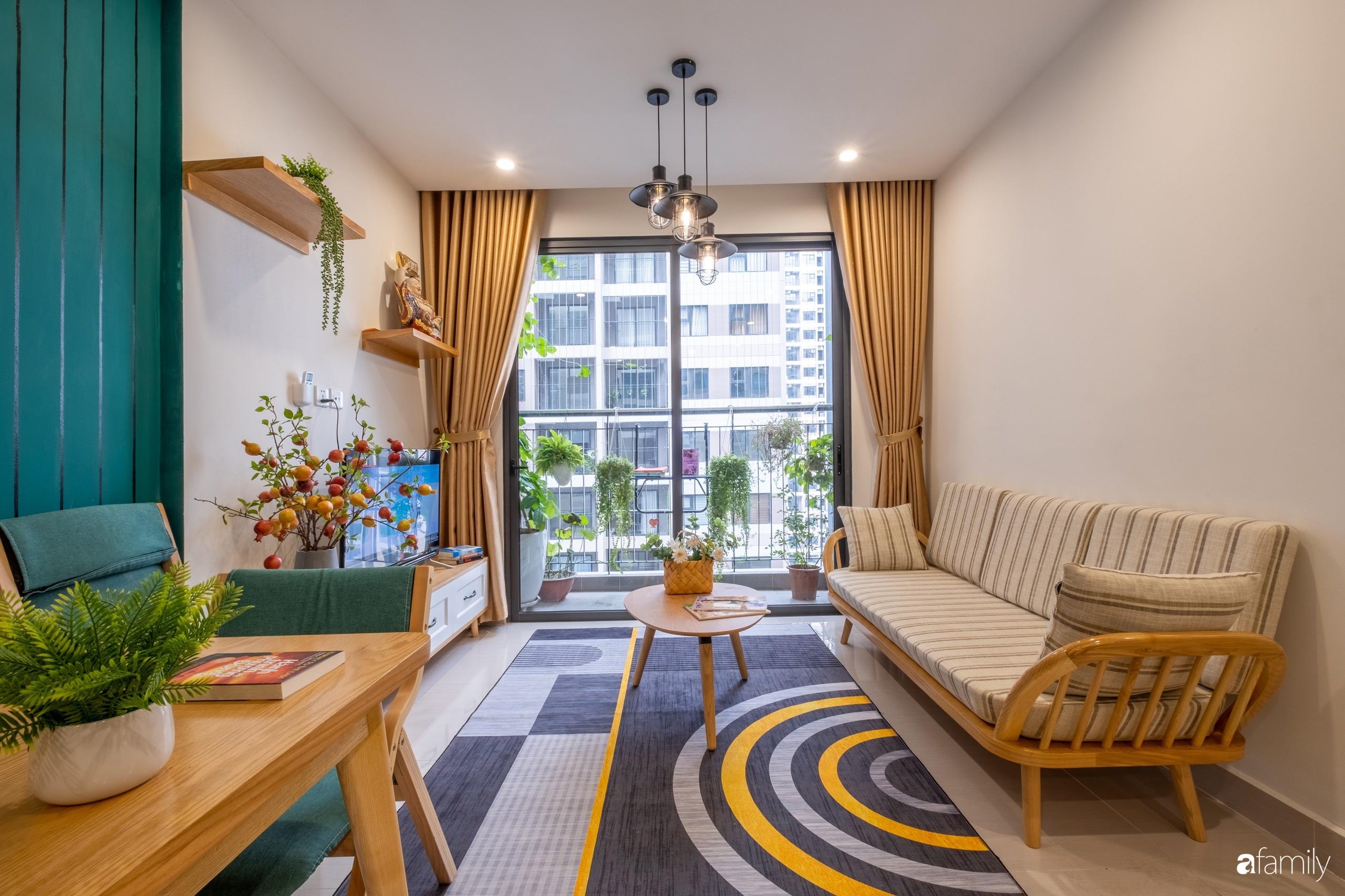 Căn hộ 54m² đẹp cuốn hút với tông màu xanh gần gũi với thiên nhiên có chi phí hoàn thiện nội thất 150 triệu đồng ở Hà Nội - Ảnh 6.