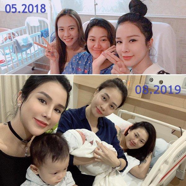 """Đọ sắc hội chị em toàn hot mom của Đàm Thu Trang khi làm """"bà đẻ"""": Người phá nét không nhận ra, người xinh đến mức bác sĩ phải khen - Ảnh 12."""