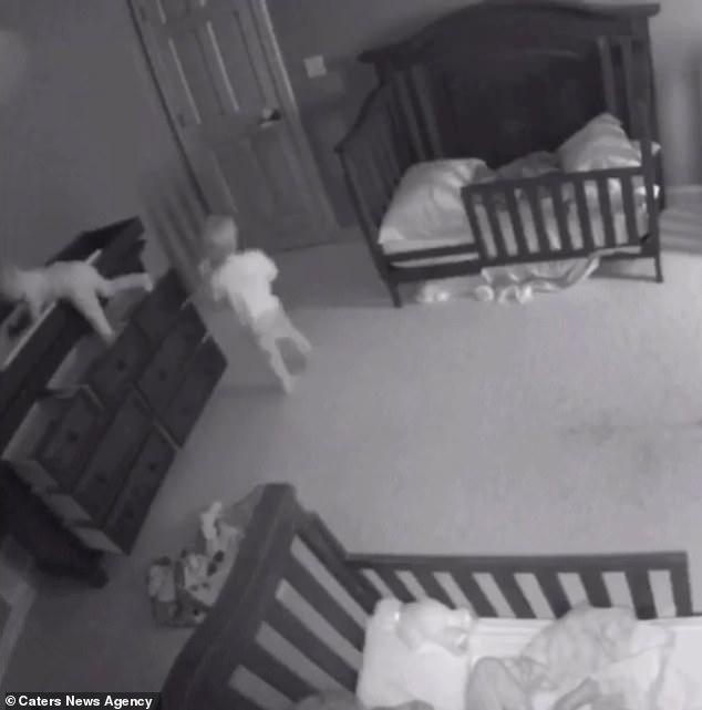 Thót tim chứng kiến cảnh chiếc tủ đổ ập vào người hai đứa trẻ - Ảnh 1.