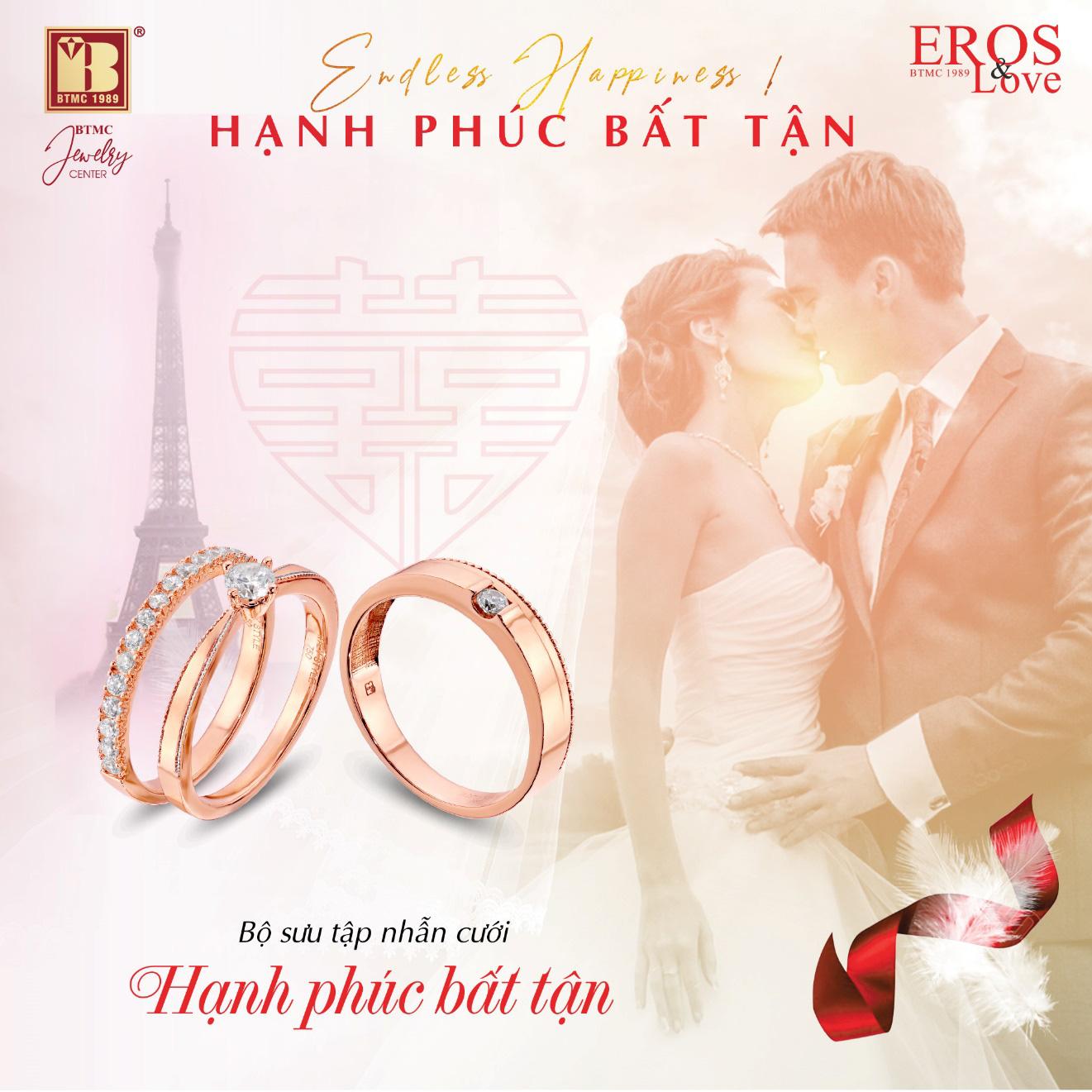 """""""Hạnh phúc bất tận"""" cùng trang sức cưới Bảo Tín Minh Châu - Ảnh 2."""