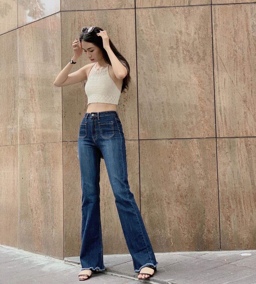Mùa thu diện quần jeans ống loe chanh sả biết mấy, lại hack chân dài không tậu hơi phí - Ảnh 3.