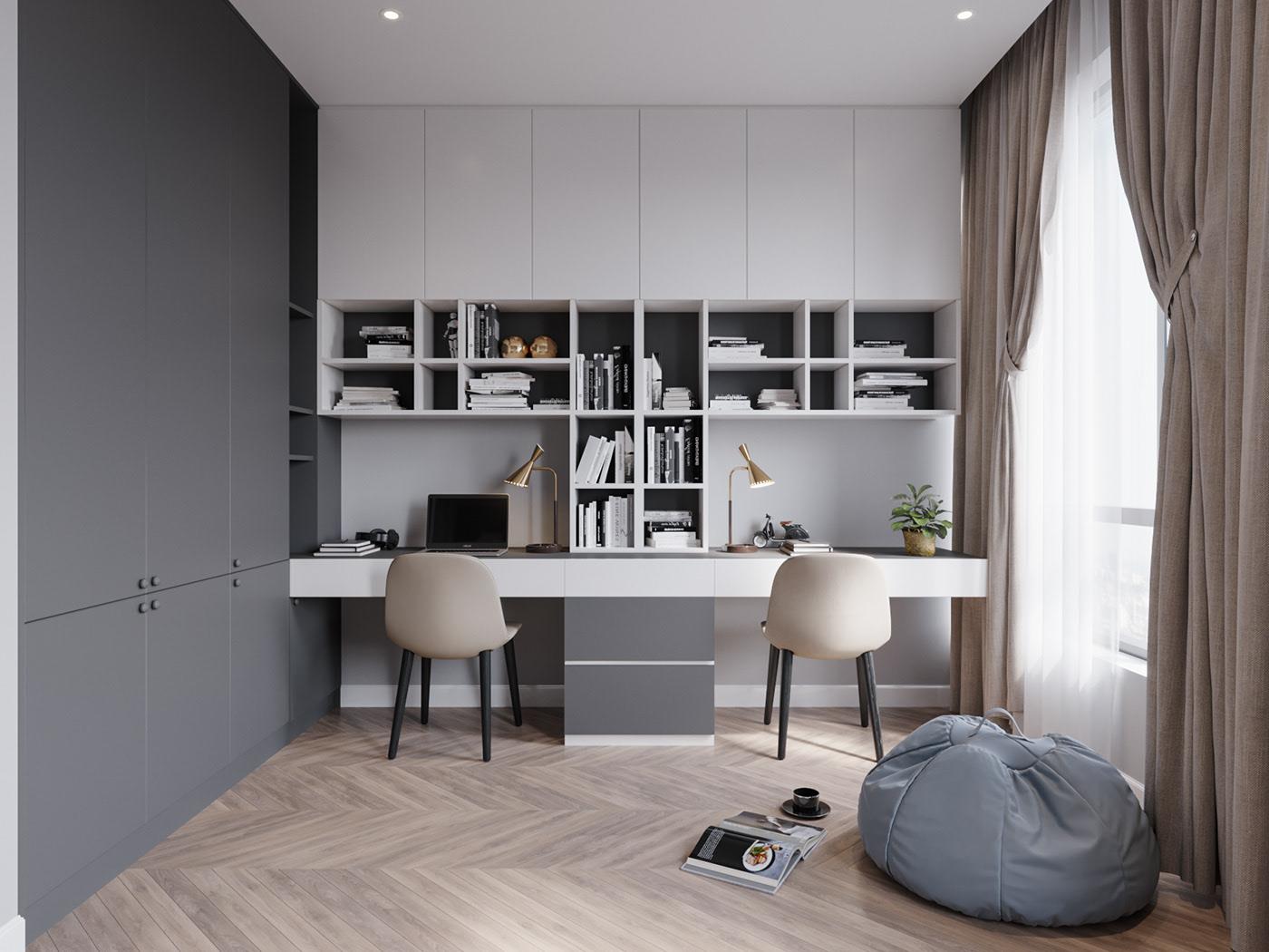 Tư vấn thiết kế nhà 2 tầng có diện tích 42m² gồm 2 phòng ngủ hiện đại với chi phí 164 triệu đồng - Ảnh 11.