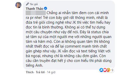 Thanh Thảo tiếp tục lên tiếng gay gắt giữa tranh cãi câu chuyện con trai Ngô Kiến Huy không muốn nhận bố ruột - Ảnh 3.