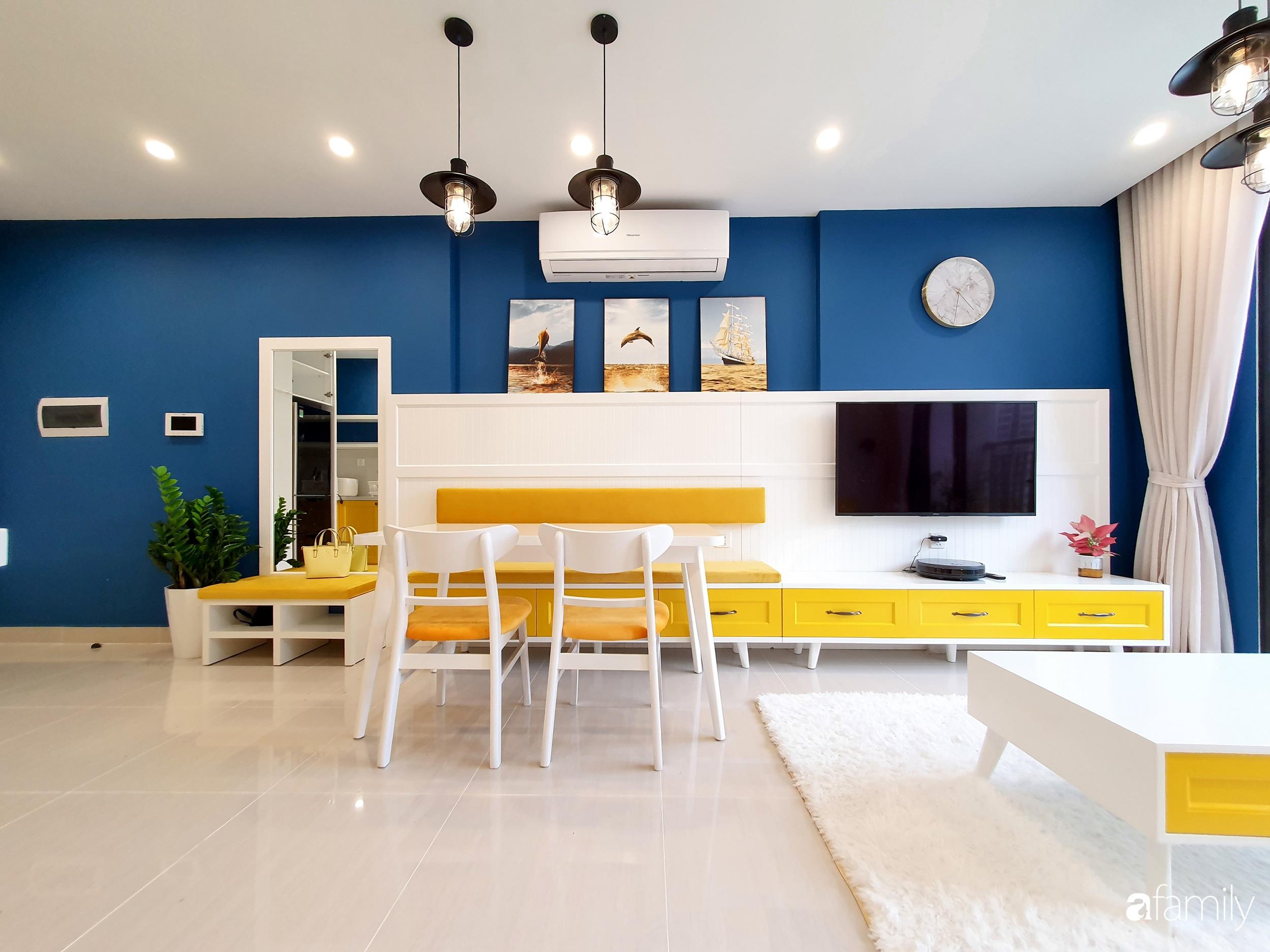 Căn hộ 75m² cá tính với cách phối màu vàng - xanh tinh tế có chi phí hoàn thiện 270 triệu đồng ở Hà Nội - Ảnh 2.