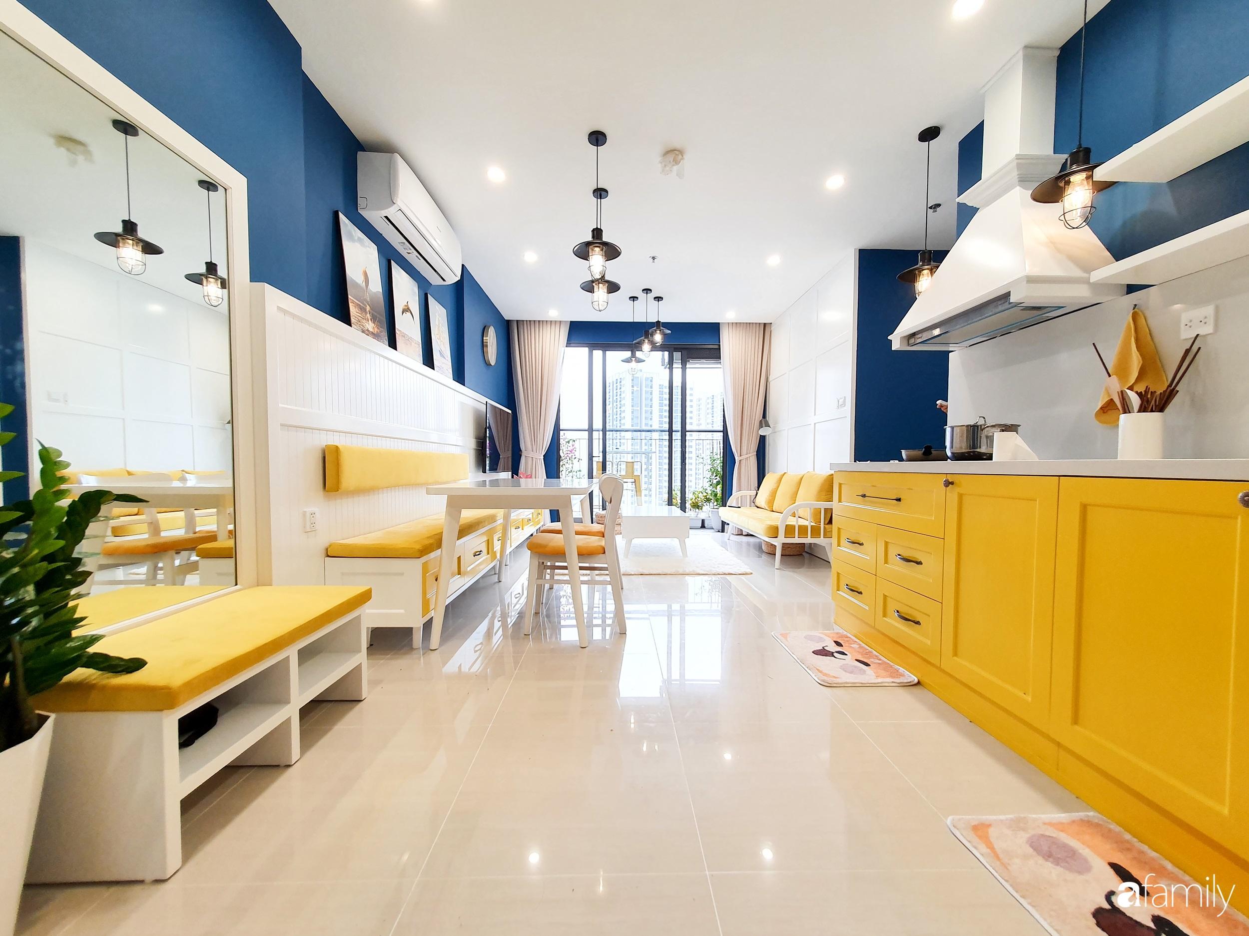 Căn hộ 75m² cá tính với cách phối màu vàng - xanh tinh tế có chi phí hoàn thiện 270 triệu đồng ở Hà Nội - Ảnh 7.